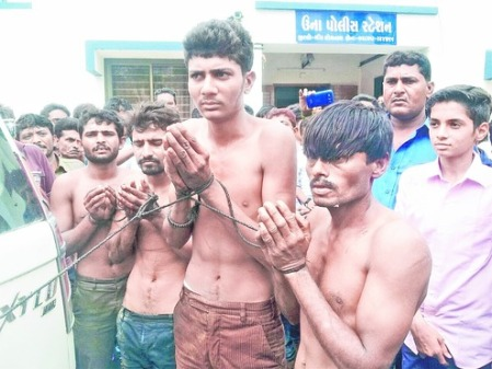 Dalits beaten up GUJARAT